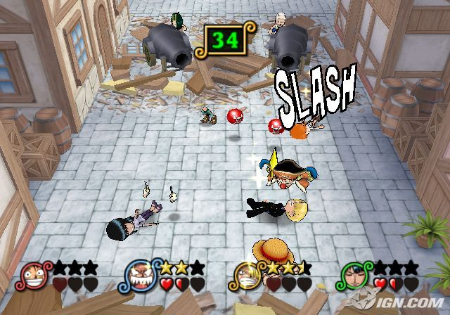 One Piece Pirates Carnival PS2 GAME ISO Screenshot 2
