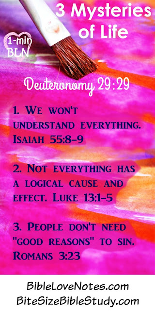 Deuteronomy 29:29, mysteries of faith
