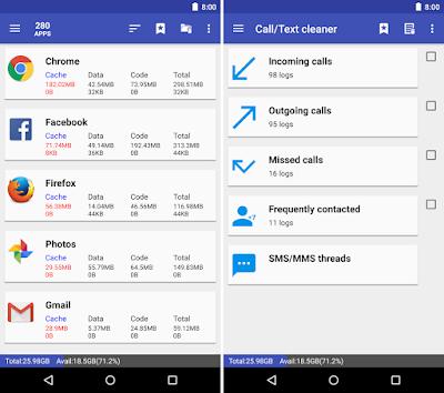 Tampilan Aplikasi 1Tap Cleaner Pro