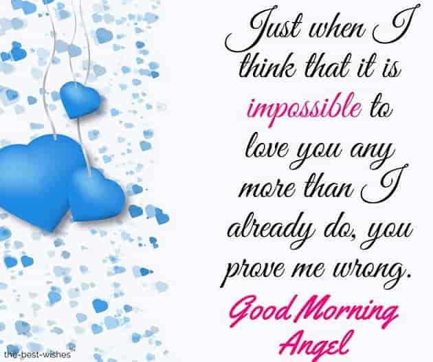 good morning angel love letter