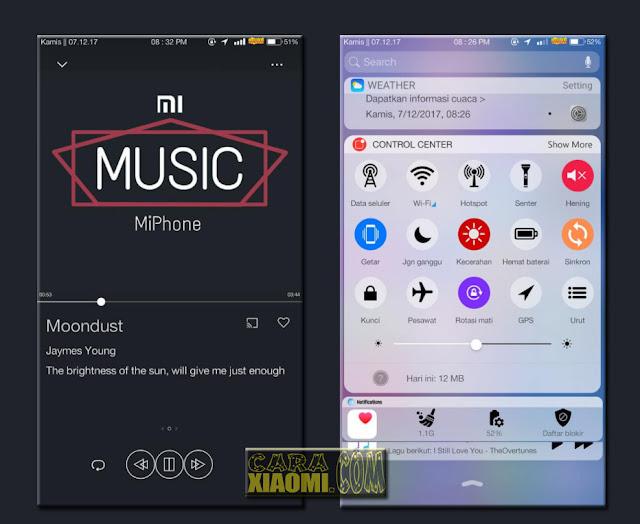 Tema Xiaomi MiPhone Theme Mtz For MIUI 8 / MIUI 9 Redmi Terbaru Seperti IOS Apple
