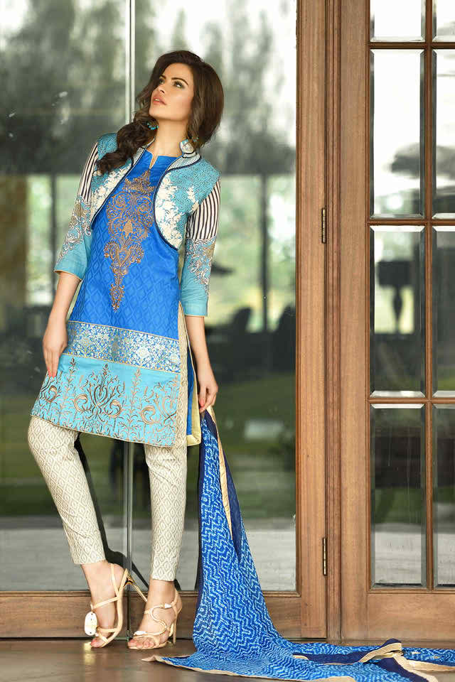 Dahlia Embroidered Eid Collection by Lala