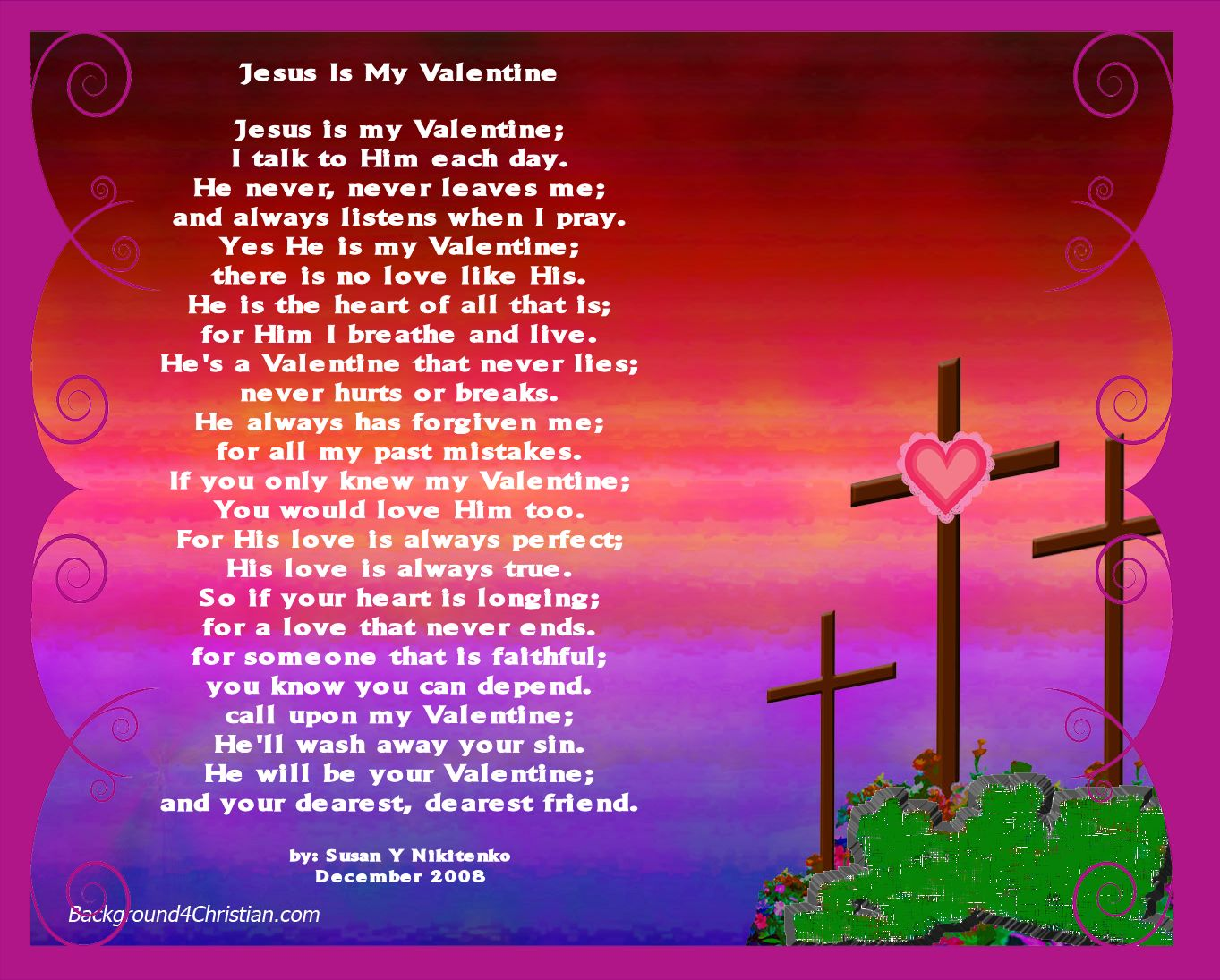 Christian Images In My Treasure Box Jesus Is My Valentine Poster