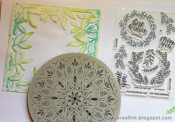 Layers of ink - Simon Says Stamp Sending Sunshine Release Blog Hop by Anna-Karin Evaldsson