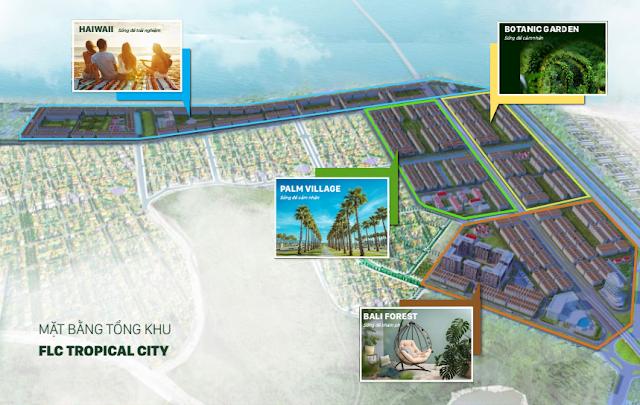 Mặt bằng tổng thể toàn khu dự án FLC Tropical City Hà Khánh