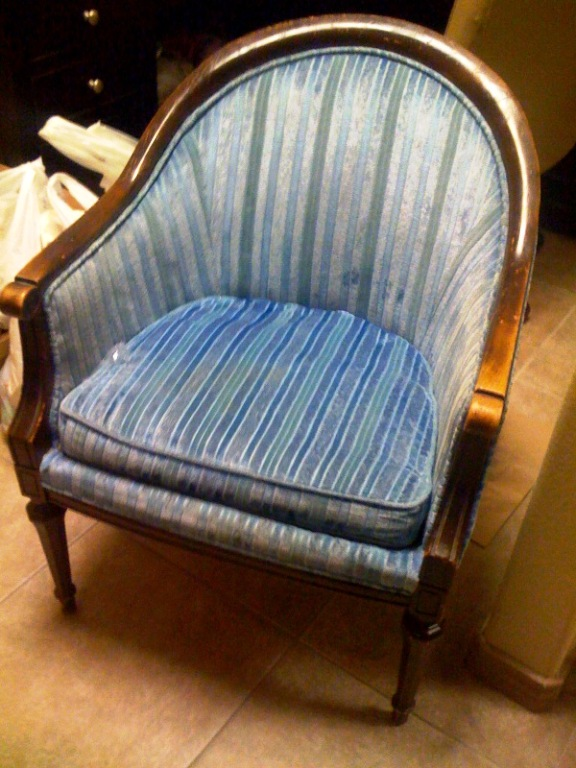 Petticoats and Patina: Ugly Goodwill Chair Gets A Facelift