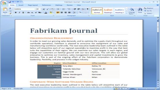 Office 2007 screenshot 4