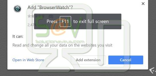 BrowserWatch (Extensiones forzosas de Chrome)