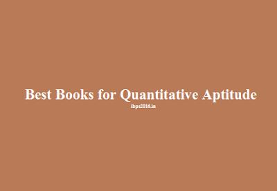 Best Books for Quantitative Aptitude