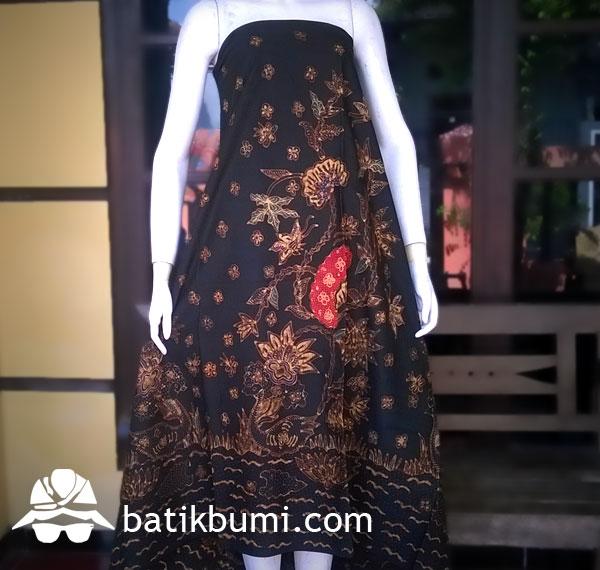 Kain Batik Tulis Sogan Tumpal  jual batik murah Batik modern