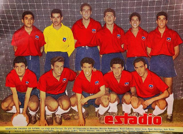 Formación de Chile ante Suiza, amistoso disputado el 6 de abril de 1960
