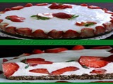 Tarta de Fresas Queso y Chocolate