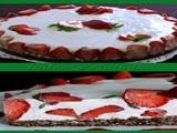 Tarta de Fresas Queso y Chocolate