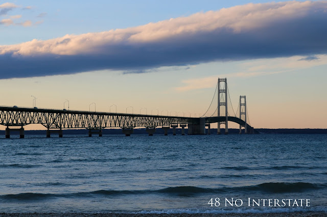 Back Roads Cross Country Road Trip travel - Mackinaw Bridge - Mackinaw City to St. Ignace, Michigan