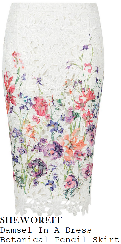 holly-willoughby-damsel-in-a-dress-botanical-cream-multicoloured-floral-print-lace-pencil-skirt