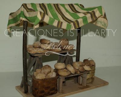 belen artesanal, rodrigo garcia, creaciones istillarty, puesto de pan