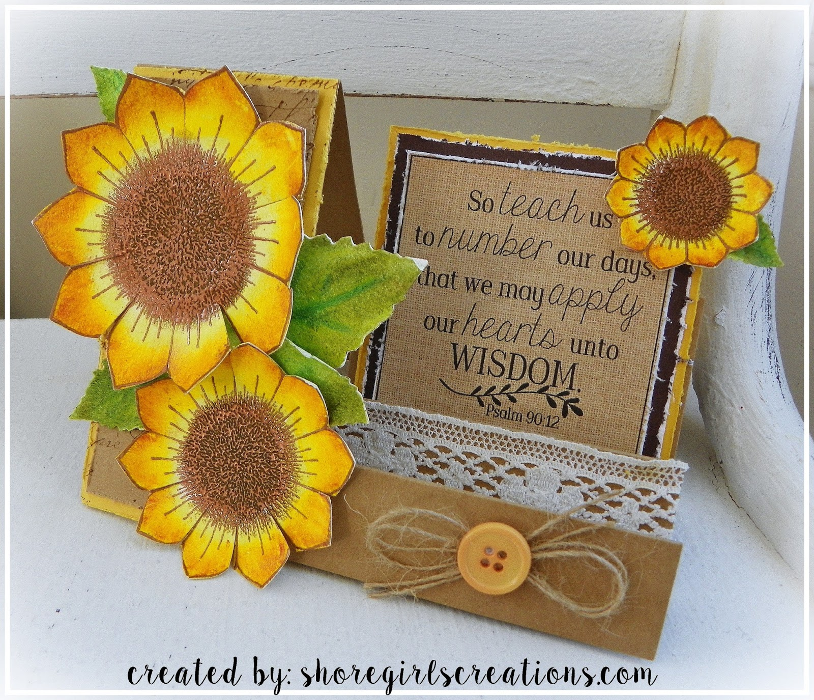 A Friend Came Over Last Week To Make Cards And Wanted To Try The Side Step  Technique. Hereu0027s A Fall Card I Created Using Heartfelt Creations Sunflowers  And ...