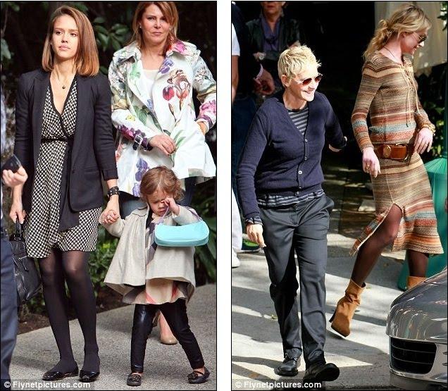 Portia De Rossi Pregnancy: Skinny Jeans And Towering Heels: Hard To Believe Posh Is