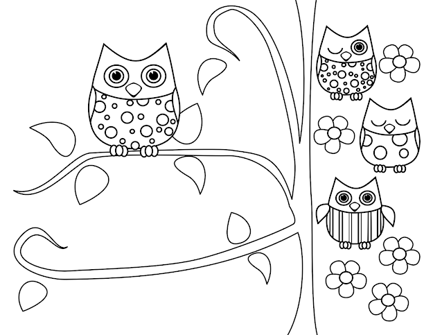 Cute Owl Coloring Pages With  Best Images About Owl Coloring Pages On  Pinterest