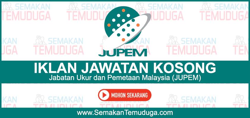 Jabatan Ukur Dan Pemetaan Malaysia Jawatan Kosong