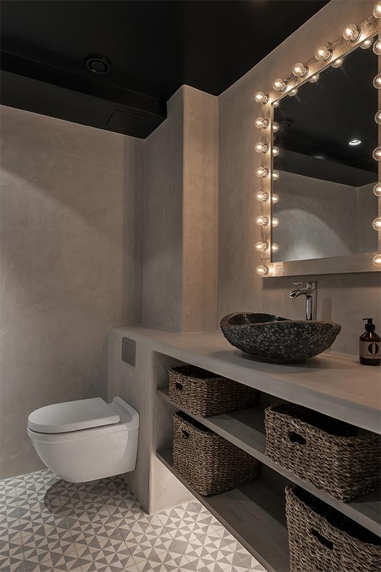 banheiro moderno, a casa eh sua, acasaehsua, apartamento pequeno, decoração moderna, cimento queimado