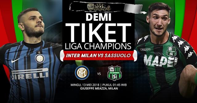Prediksi Inter Milan Vs Sassuolo, Minggu 13 Mei 2018 Pukul 01.45 WIB