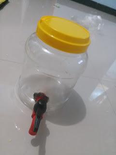 cara buat diy dispenser dari toples bekas daur ulang