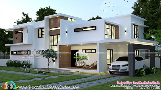 front elevation of minimalist contemporary house
