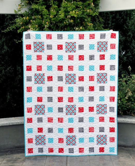 Fractals quilt made using the new Desert Bloom fabrics from Riley Blake