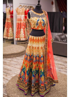 Digitally Printed Lehenga Choli Top