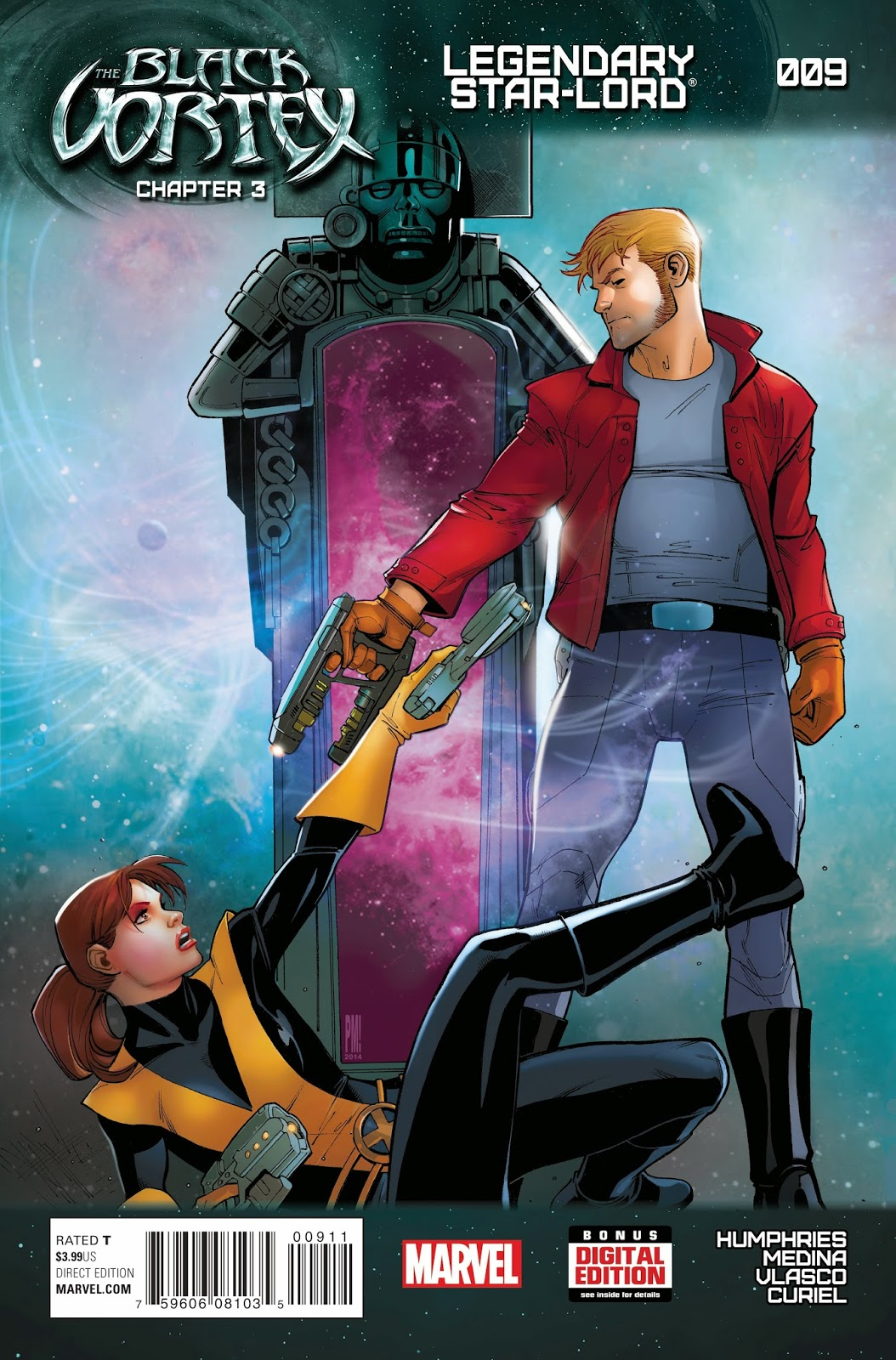 Kitty Pryde and Peter Quill face off