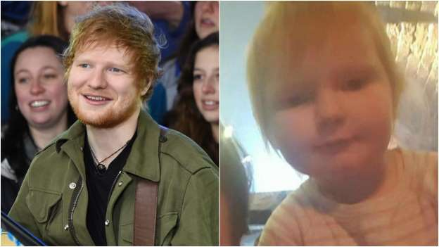 Ed Sheeran Has a 2-Year-old Look-Alike and It's Really Freaky