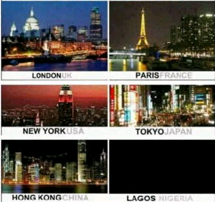 worlds biggest cities at night
