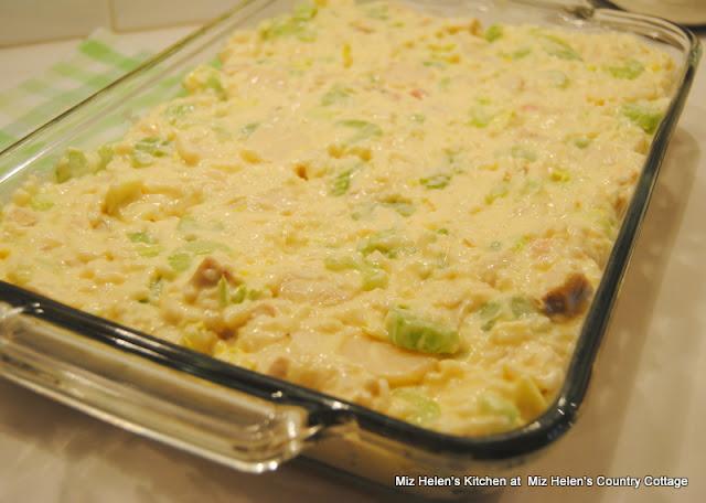 Baked Chicken Salad Casserole at Miz Helen's Country Cottage