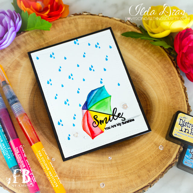 Umbrella Smiles friendship Card by ilovedoingallthingscrafty