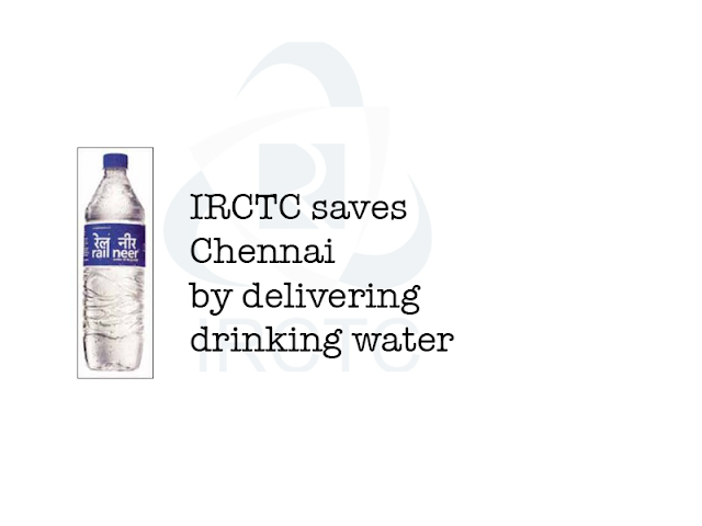 Image of IRCTC saves Chennai by delivering drinking water