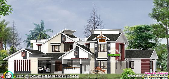 Luxury 4 bedroom modern home design