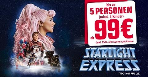 starlight express bis zu 5 tickets ab 99 sparfuchs 39 schn ppchen blog. Black Bedroom Furniture Sets. Home Design Ideas