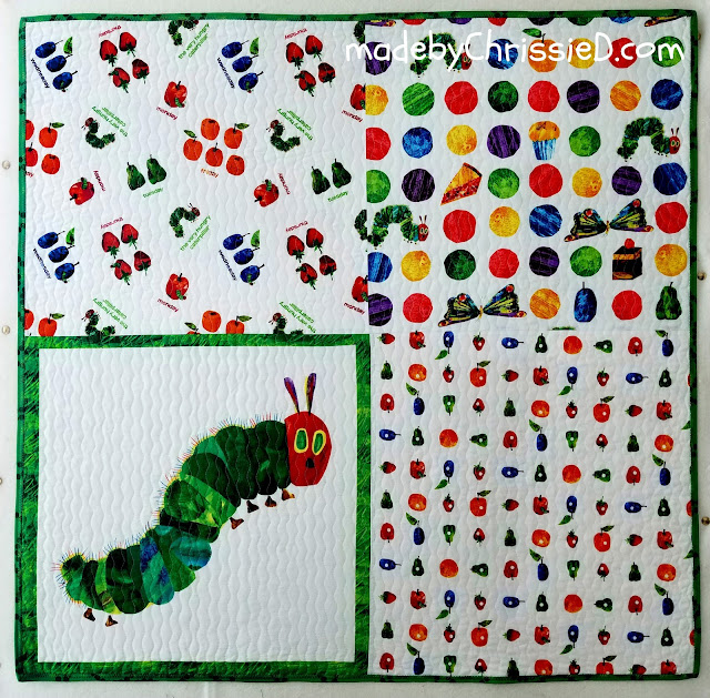 Making a child's quilt based on The Very Hungry Caterpillar book by Chris Dodsley @madebyChrissieD.com