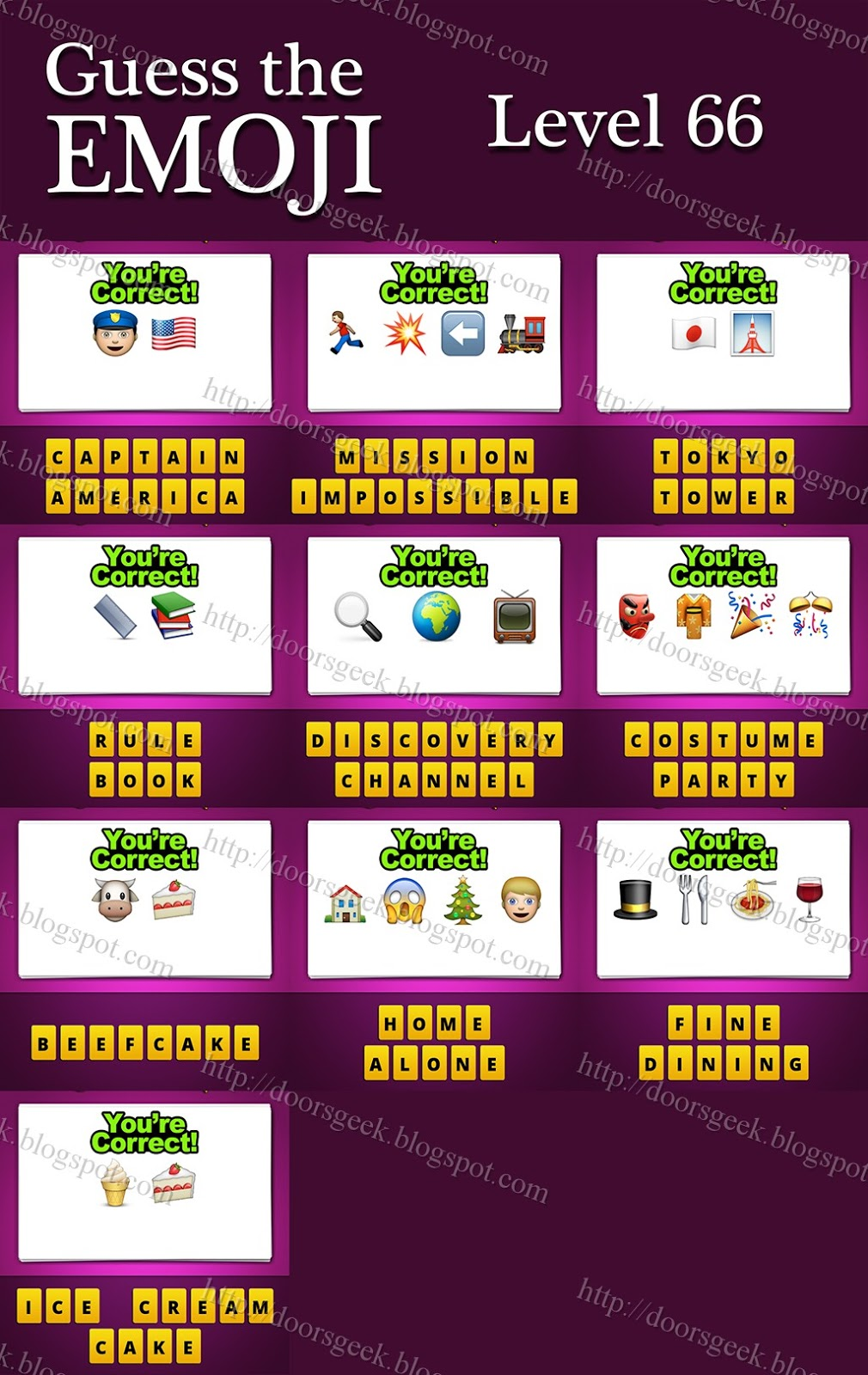 guess the emoji  level 66  answers and cheats