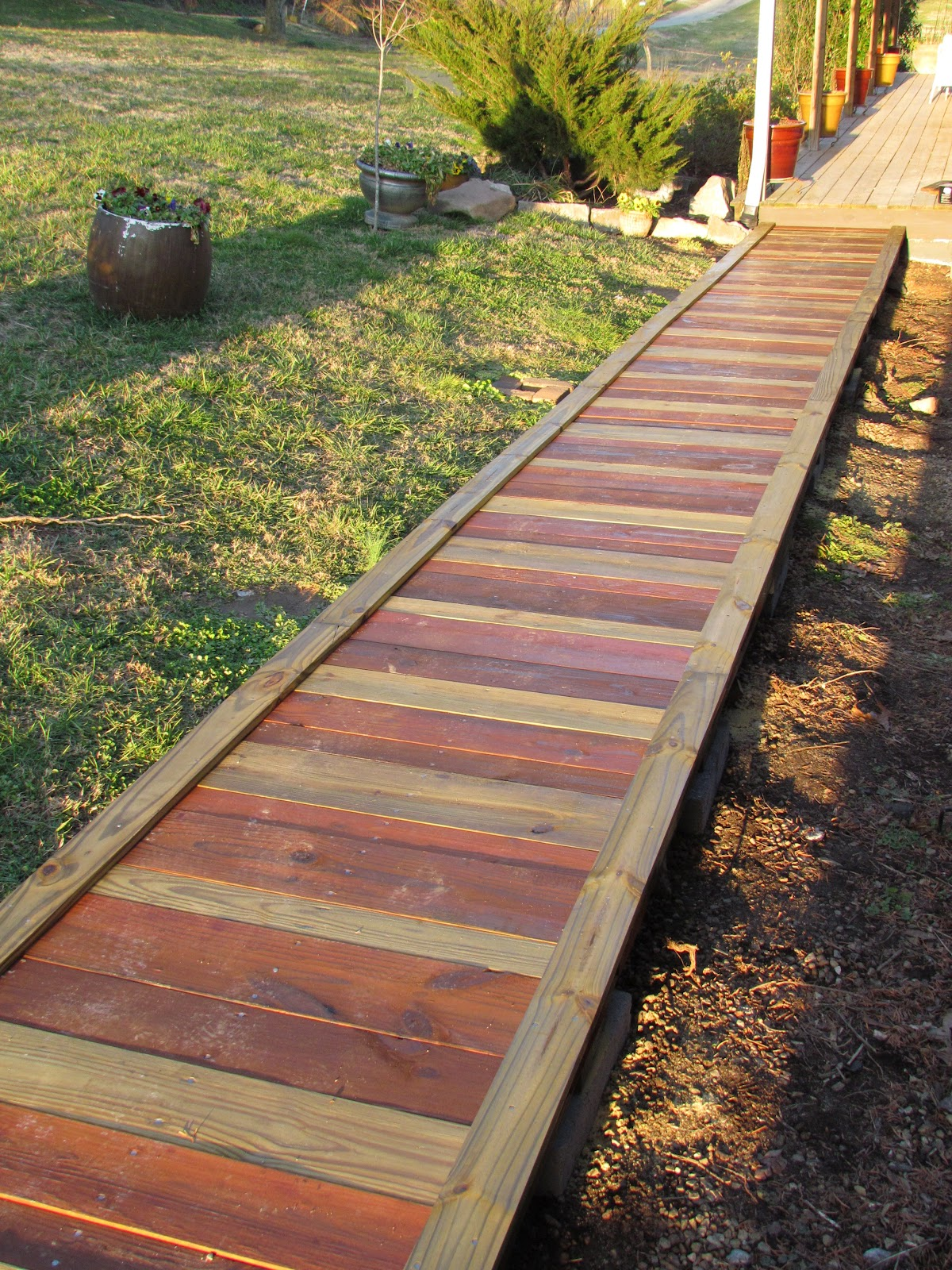 Out in the Stiks: A New Sidewalk on Side Yard Walkway Ideas  id=67738