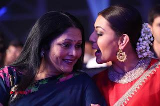Actress Kajal Agarwal Stills in Red Saree at msavam Audio Launch   0150.JPG