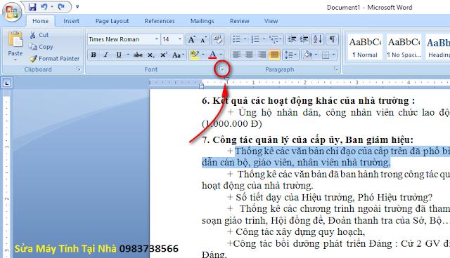 Điều chỉnh khoảng cách giữa các chữ trong Word