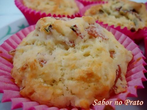 Receita de Muffin Salgado.