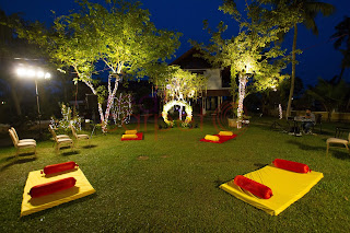 low bed seating arrangements for mehndi sangeet haldi night kerala