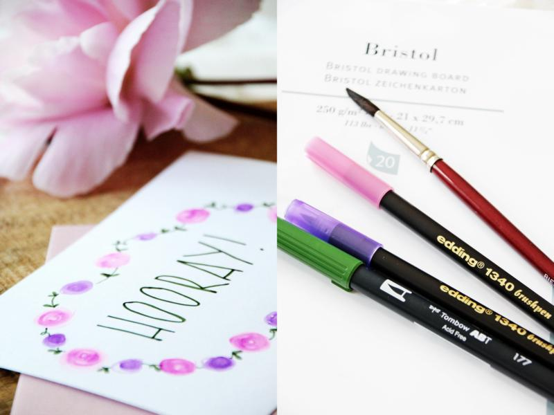 Anleitung Blüten Brush Lettering