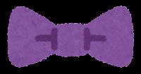 蝶ネクタイのイラスト(紫)