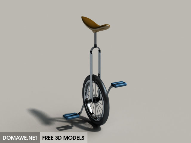 DOMAWE net: Unicycle 3D Model Free Download