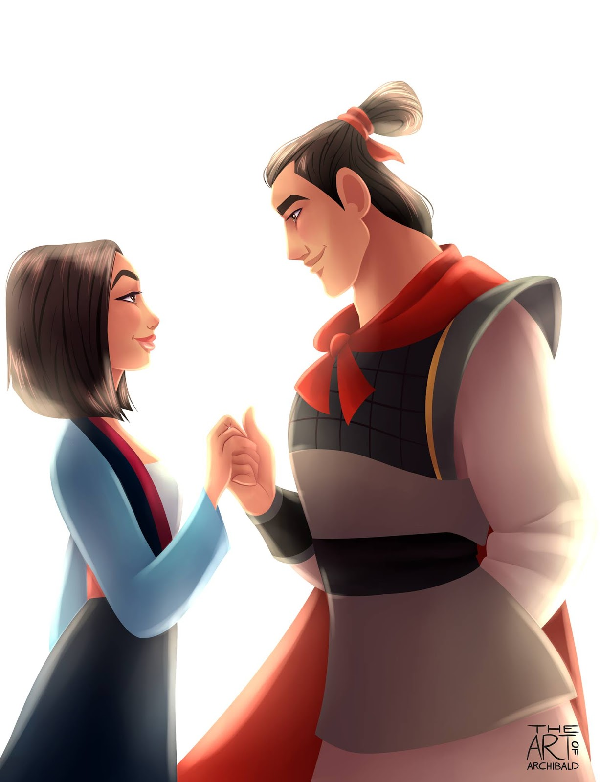 Disney cast os casais disney de archibald parte 1 como por exemplo mulan e shang que fofos eles ficaram nesta fanart adorei fandeluxe Gallery