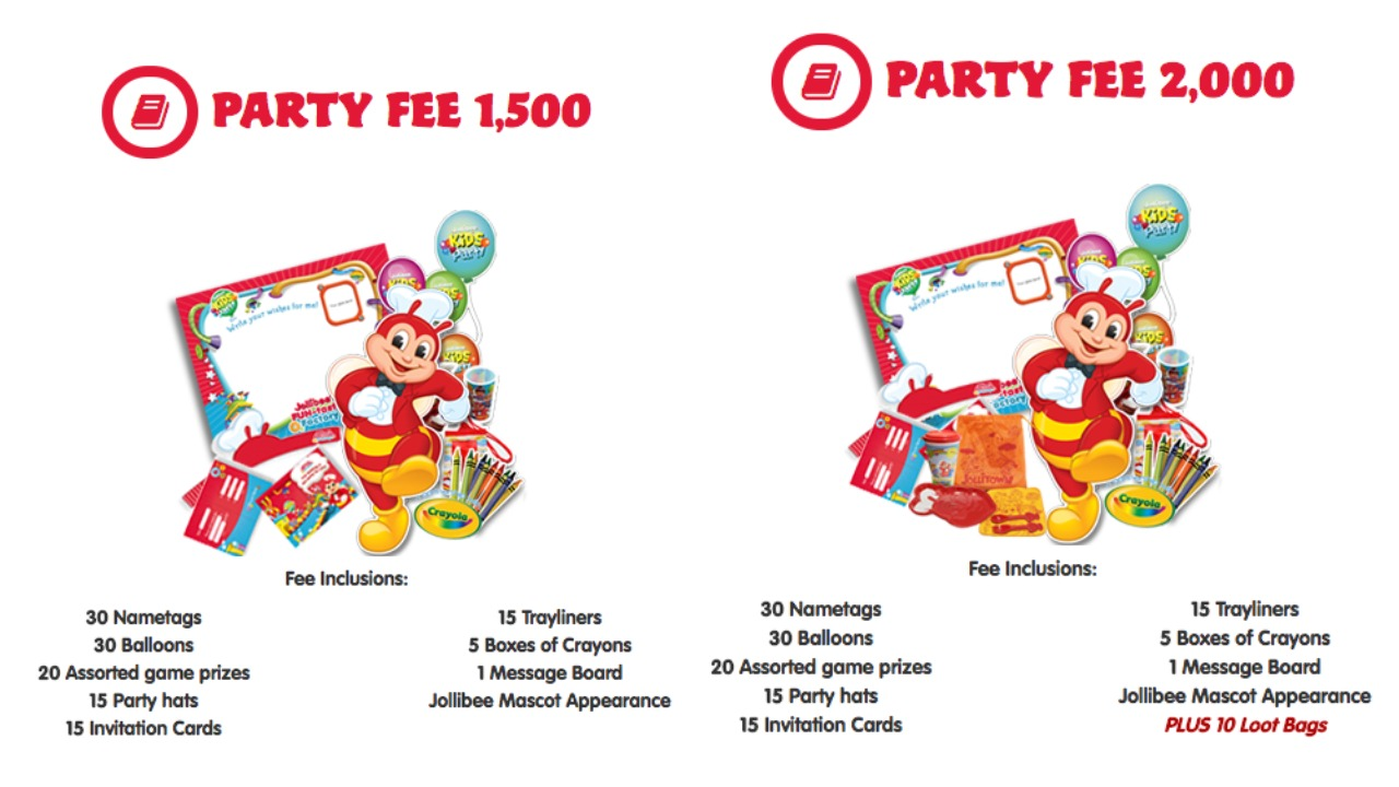 Moms kiddie party link fast food and restaurant party packages jollibee party fee stopboris Images